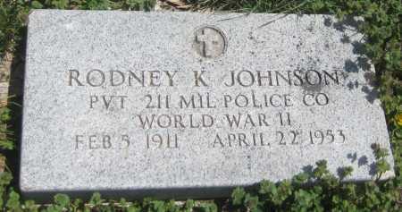 JOHNSON, RODNEY K. - Saline County, Nebraska | RODNEY K. JOHNSON - Nebraska Gravestone Photos