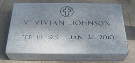 JOHNSON, V. VIVIAN - Saline County, Nebraska | V. VIVIAN JOHNSON - Nebraska Gravestone Photos