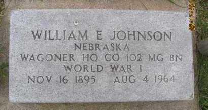 JOHNSON, WILLIAM EDWARD - Saline County, Nebraska | WILLIAM EDWARD JOHNSON - Nebraska Gravestone Photos
