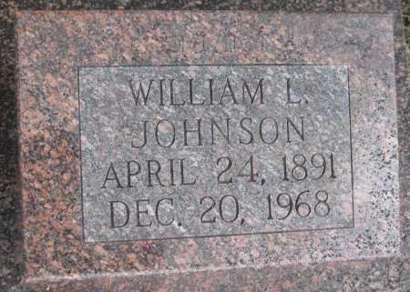 JOHNSON, WILLIAM L. - Saline County, Nebraska | WILLIAM L. JOHNSON - Nebraska Gravestone Photos