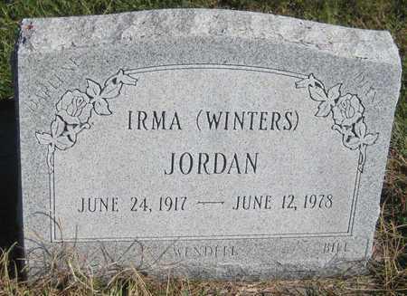 JORDAN, IRMA - Saline County, Nebraska | IRMA JORDAN - Nebraska Gravestone Photos