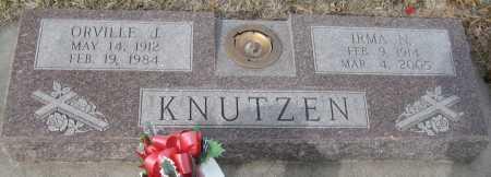 KNUTZEN, ORVILLE J. - Saline County, Nebraska | ORVILLE J. KNUTZEN - Nebraska Gravestone Photos