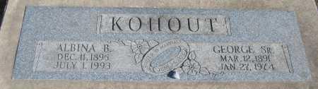 KOHOUT, ALBINA B. - Saline County, Nebraska | ALBINA B. KOHOUT - Nebraska Gravestone Photos