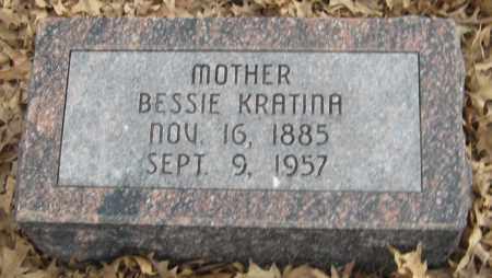 DLOUHY KRATINA, BESSIE - Saline County, Nebraska | BESSIE DLOUHY KRATINA - Nebraska Gravestone Photos