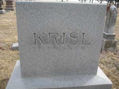 KRISL, FAMILY MONUMENT - Saline County, Nebraska | FAMILY MONUMENT KRISL - Nebraska Gravestone Photos