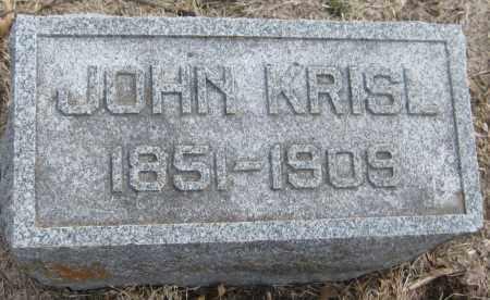 KRISL, JOHN - Saline County, Nebraska | JOHN KRISL - Nebraska Gravestone Photos