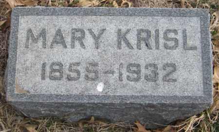 KRISL, MARY - Saline County, Nebraska   MARY KRISL - Nebraska Gravestone Photos