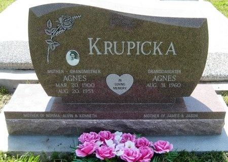 KRUPICKA, AGNES - Saline County, Nebraska | AGNES KRUPICKA - Nebraska Gravestone Photos