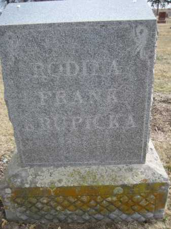 KRUPICKA, FAMILY MONUMENT - Saline County, Nebraska | FAMILY MONUMENT KRUPICKA - Nebraska Gravestone Photos