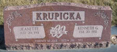 KRUPICKA, KENNETH G. - Saline County, Nebraska | KENNETH G. KRUPICKA - Nebraska Gravestone Photos