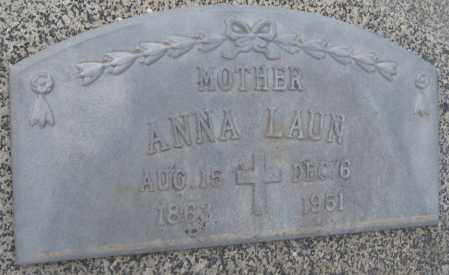 LAUN, ANNA - Saline County, Nebraska | ANNA LAUN - Nebraska Gravestone Photos