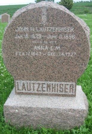 LAUTZENHISER, JOHN HENRY - Saline County, Nebraska | JOHN HENRY LAUTZENHISER - Nebraska Gravestone Photos