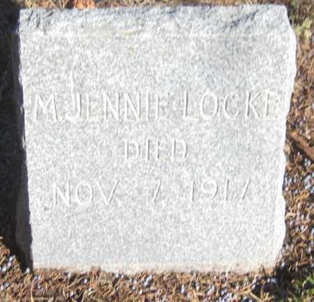LOCKE, M. JENNIE - Saline County, Nebraska | M. JENNIE LOCKE - Nebraska Gravestone Photos