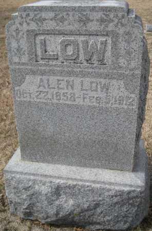 LOW, ALEN - Saline County, Nebraska | ALEN LOW - Nebraska Gravestone Photos