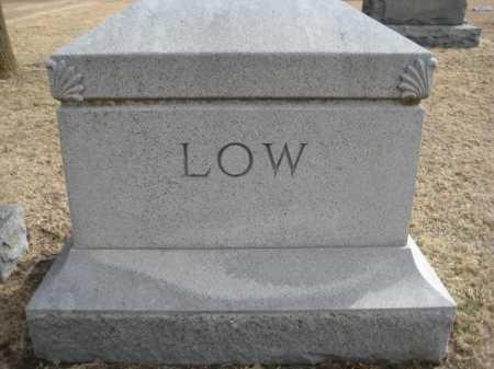 LOW, FAMILY MONUMENT - Saline County, Nebraska   FAMILY MONUMENT LOW - Nebraska Gravestone Photos