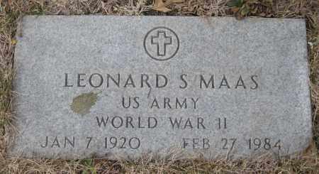 MAAS, LEONARD S. - Saline County, Nebraska | LEONARD S. MAAS - Nebraska Gravestone Photos