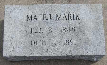 MARIK, MATEJ - Saline County, Nebraska | MATEJ MARIK - Nebraska Gravestone Photos
