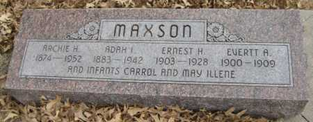 MAXSON, ARCHIE H. - Saline County, Nebraska | ARCHIE H. MAXSON - Nebraska Gravestone Photos