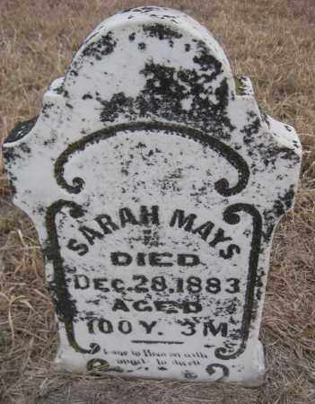 MAYS, SARAH - Saline County, Nebraska | SARAH MAYS - Nebraska Gravestone Photos