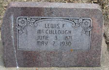 MCCULLOUGH, LEWIS F. - Saline County, Nebraska   LEWIS F. MCCULLOUGH - Nebraska Gravestone Photos