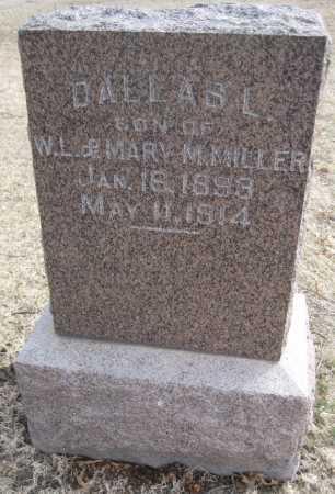 MILLER, DALLAS L. - Saline County, Nebraska | DALLAS L. MILLER - Nebraska Gravestone Photos