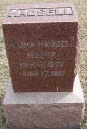 MILLER, PLUMA - Saline County, Nebraska | PLUMA MILLER - Nebraska Gravestone Photos