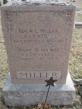 MILLER, MARY M. - Saline County, Nebraska   MARY M. MILLER - Nebraska Gravestone Photos