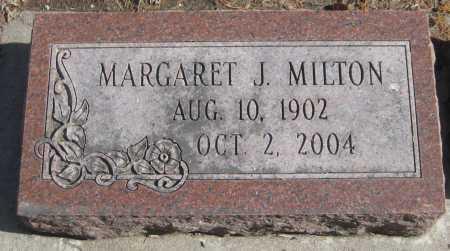 MILTON, MARGARET J. - Saline County, Nebraska | MARGARET J. MILTON - Nebraska Gravestone Photos
