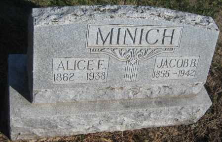 MINICH, JACOB B. - Saline County, Nebraska | JACOB B. MINICH - Nebraska Gravestone Photos