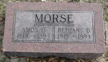 MORSE, AMOS O. - Saline County, Nebraska | AMOS O. MORSE - Nebraska Gravestone Photos