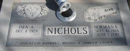 NICHOLS, IMA A. - Saline County, Nebraska   IMA A. NICHOLS - Nebraska Gravestone Photos