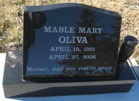 OLIVA, MABLE MARY - Saline County, Nebraska | MABLE MARY OLIVA - Nebraska Gravestone Photos