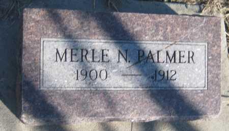 PALMER, MERLE N. - Saline County, Nebraska | MERLE N. PALMER - Nebraska Gravestone Photos