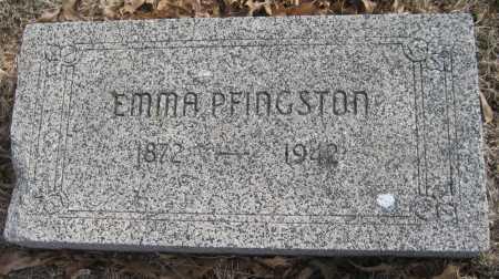 PFINGSTON, EMMA - Saline County, Nebraska | EMMA PFINGSTON - Nebraska Gravestone Photos