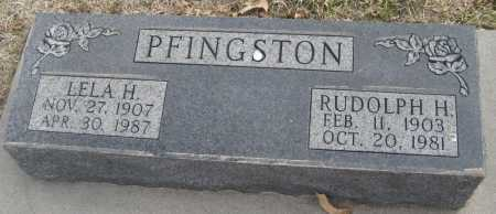 PFINGSTON, LELA H. - Saline County, Nebraska | LELA H. PFINGSTON - Nebraska Gravestone Photos