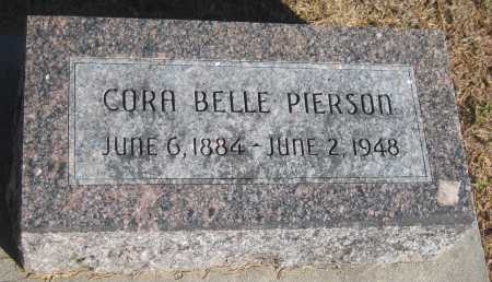 PIERSON, CORA BELLE - Saline County, Nebraska | CORA BELLE PIERSON - Nebraska Gravestone Photos
