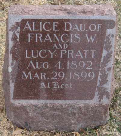 PRATT, ALICE - Saline County, Nebraska   ALICE PRATT - Nebraska Gravestone Photos