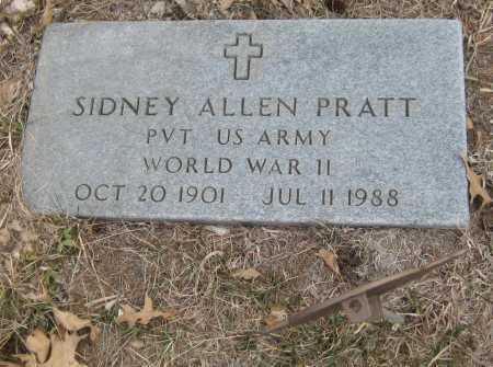 PRATT, SIDNEY ALLEN - Saline County, Nebraska | SIDNEY ALLEN PRATT - Nebraska Gravestone Photos