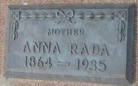 RADA, ANNA - Saline County, Nebraska | ANNA RADA - Nebraska Gravestone Photos