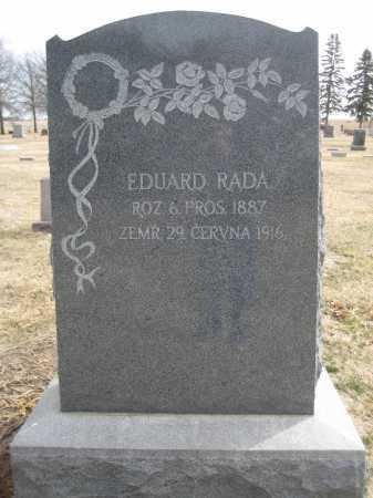 RADA, EDUARD - Saline County, Nebraska | EDUARD RADA - Nebraska Gravestone Photos