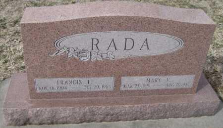 RADA, MARY V. - Saline County, Nebraska | MARY V. RADA - Nebraska Gravestone Photos