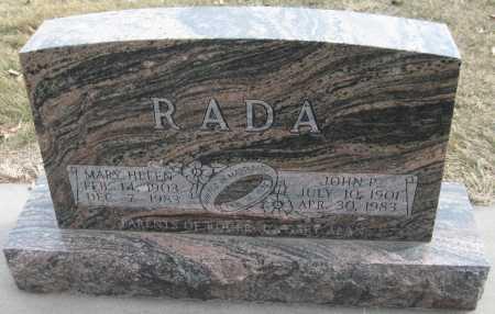 RADA, JOHN P. - Saline County, Nebraska | JOHN P. RADA - Nebraska Gravestone Photos