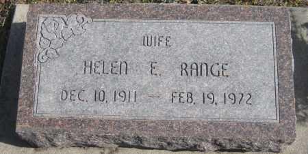 RANGE, HELEN E. - Saline County, Nebraska | HELEN E. RANGE - Nebraska Gravestone Photos