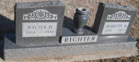 RICHTER, WALTER H. - Saline County, Nebraska   WALTER H. RICHTER - Nebraska Gravestone Photos