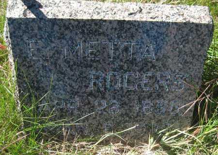 ROGERS, E. METTA - Saline County, Nebraska | E. METTA ROGERS - Nebraska Gravestone Photos