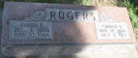 ROGERS, CHARLIE V. - Saline County, Nebraska | CHARLIE V. ROGERS - Nebraska Gravestone Photos