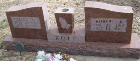 ROIT, ROBERT J. - Saline County, Nebraska   ROBERT J. ROIT - Nebraska Gravestone Photos
