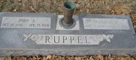 RUPPEL, ELIZABETH F. - Saline County, Nebraska   ELIZABETH F. RUPPEL - Nebraska Gravestone Photos