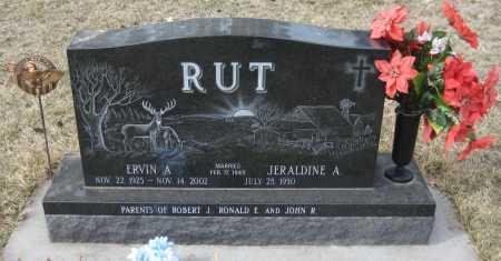 RUT, JERALDINE A. - Saline County, Nebraska | JERALDINE A. RUT - Nebraska Gravestone Photos