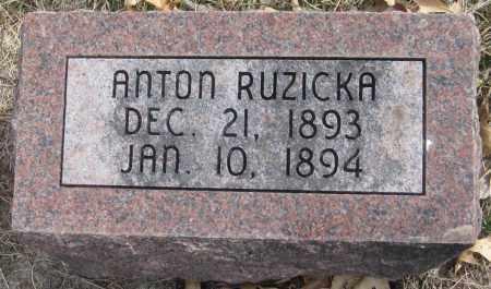 RUZICKA, ANTON - Saline County, Nebraska | ANTON RUZICKA - Nebraska Gravestone Photos